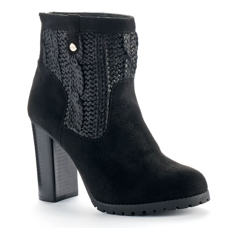 Juicy Couture Sweater Ankle Boots