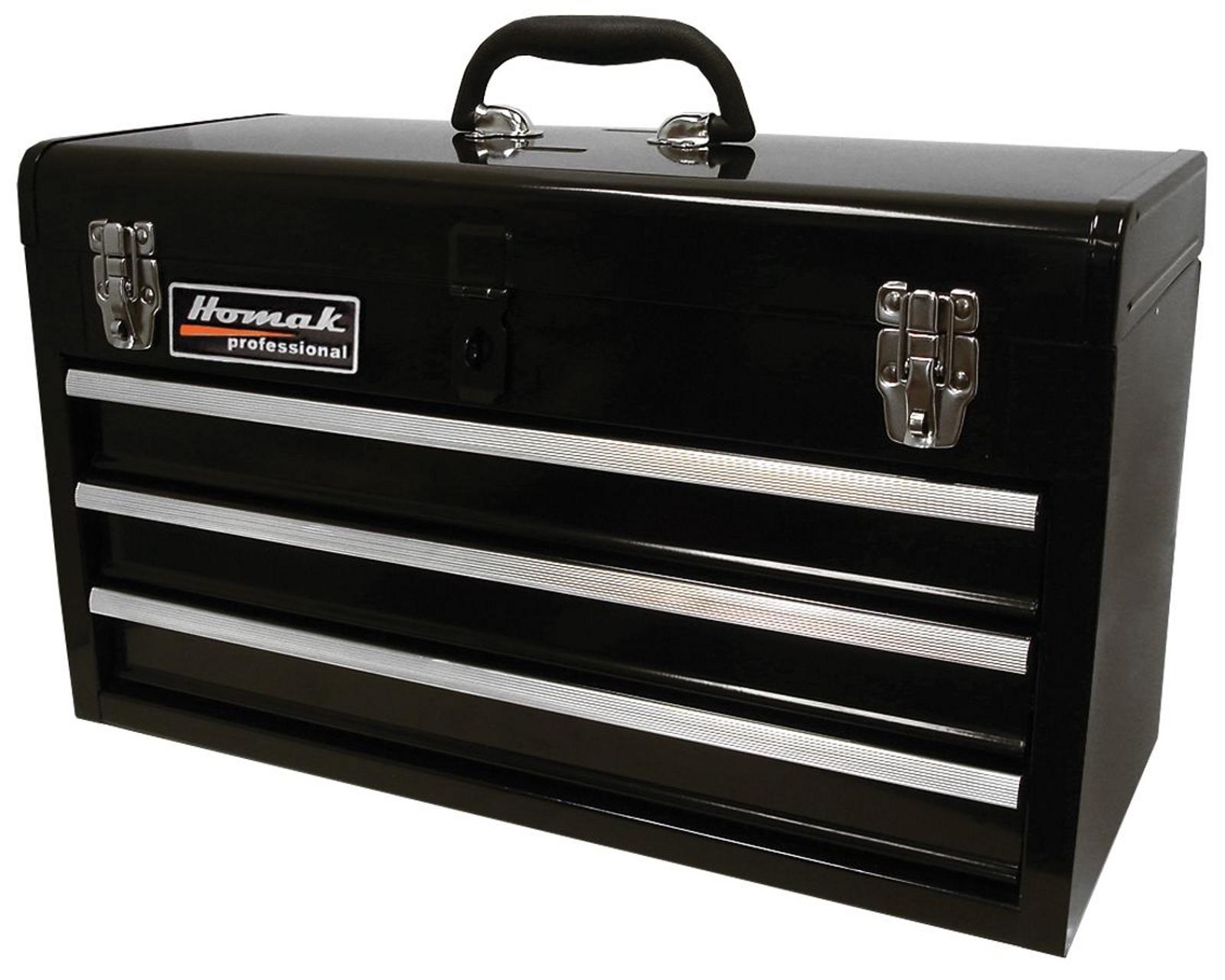Homak 20in Black 3 Drawer Toolbox